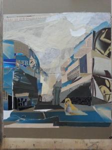 Claudia Tenani - Piazza Missori (collage)