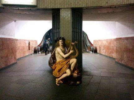 Apollon de Nicolas Regnier. Collage © Alexey Kondakov