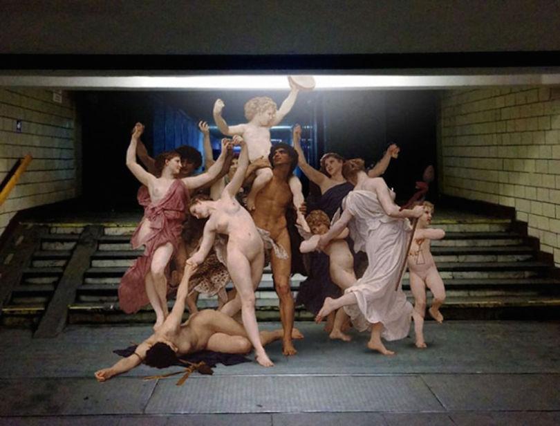 La jeunesse de Bacchus de Bouguereau. Collage © Alexey Kondakov