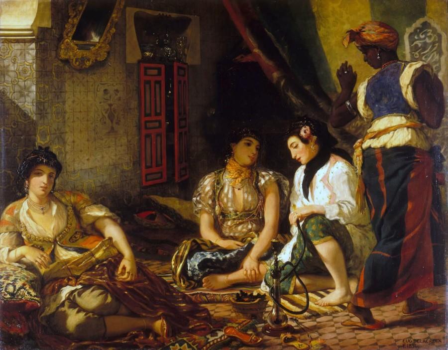 Eugène Delacroix. Women of Algiers in their Apartment. 1834. Oil on canvas. 180 × 229cm. Louvre.