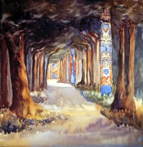 EmilyCarr-Totem-Walk At Sitka-1917