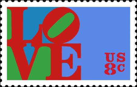Love francobollo
