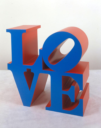Robert Indiana Love, blue red