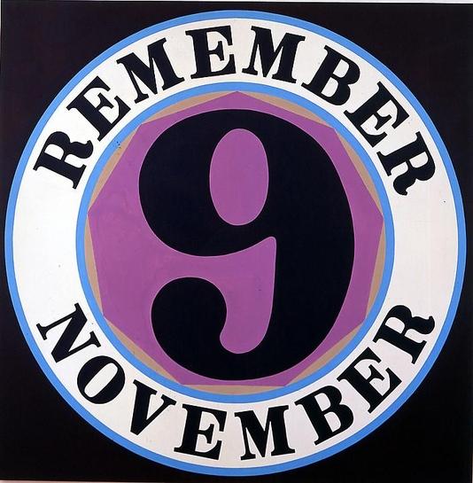 "Robert Indiana ""Remember November"""