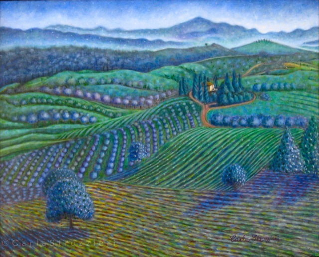 A-Healed-World-(Val-d'Orcia)-oil-on-panel-painted-by-©-Carla-Strozzieri-2013