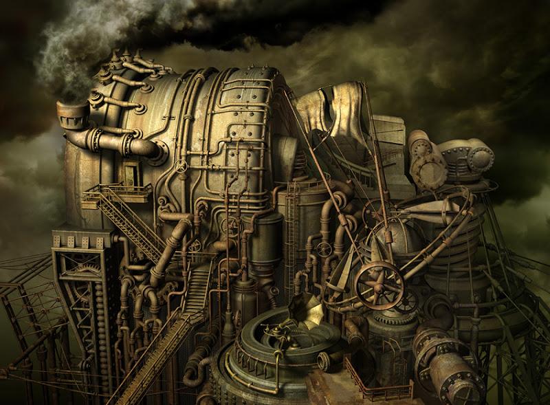 Requiem for Industry, art by Almacan Kazuhiko Nakamura