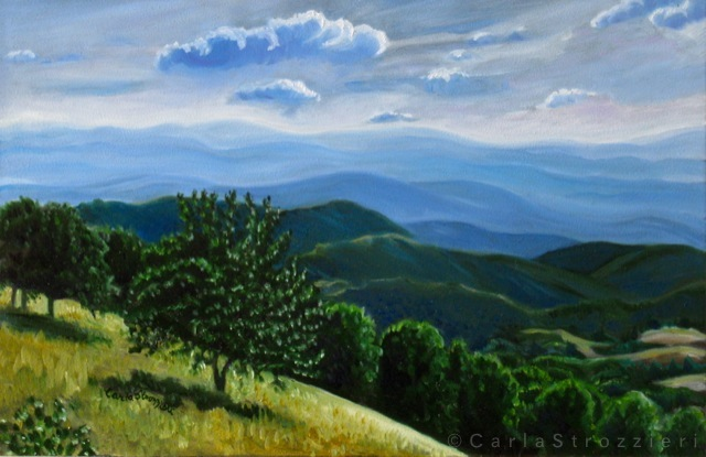 Seeing-is-Believing-(the-view-from-Monte-Terminillo)-painted-by-©-Carla-Strozzieri-2014