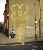banksy-yellow flower