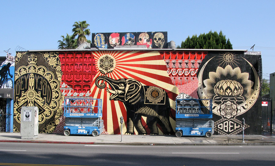 Shepard Fairey, Melrose Ave, Los Angeles
