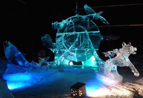 Alaskan Tambourine, ice sculpture