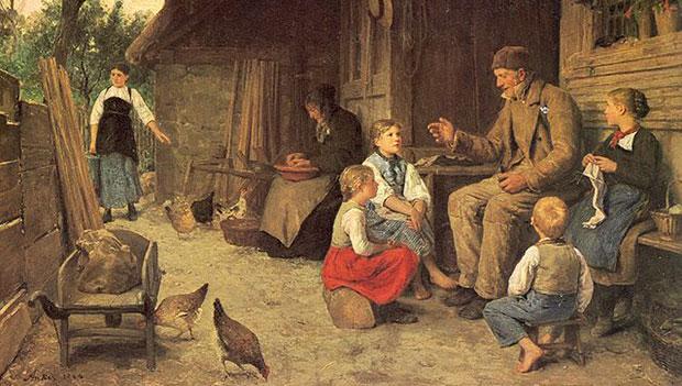 Albert Anker - I racconti del nonno