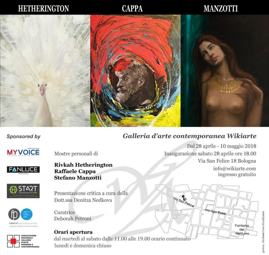 Mostra personale di Rivkah Hetherington, Raffaele Cappa e Stefano Manzotti, presenta Denitza Nedkova