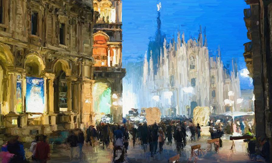 Luciano Curtarello - Notte in Piazza Duomo
