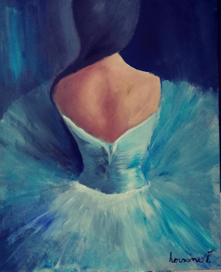 Ballerina in blu